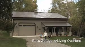 Metal Shop With Living Quarters Floor Plans Pat U0027s Garage W Living Quarters Youtube