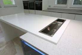 this kitchen island with breakfast bar has an ice trough inset