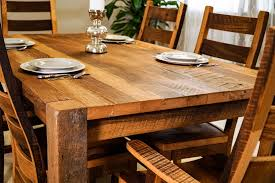 Timber Ridge Reclaimed Barn Wood Dining Table - Timber kitchen table