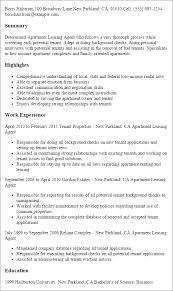 Professional Apartment Leasing Agent Templates to Showcase Your     My Perfect Resume Resume Templates  Apartment Leasing Agent
