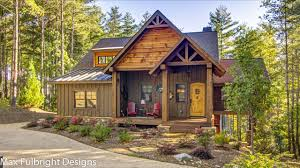 Log Cabin Style House Plans Small Cabin Home Plan With Open Living Floor Plan