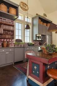 Farmhouse Kitchens Designs Sanibel Cabinets Green Island Granite Or Wood Top Like The