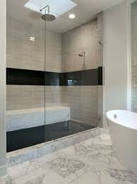 Bathroom Shower Design by Shower Floor With Black Hex Tile This Is Also A Similar Glass