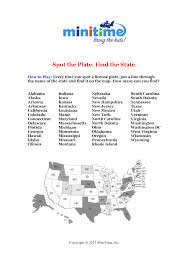 United States And Canada Map by License Plate Scavenger Hunt Games Free Printable Car Games For