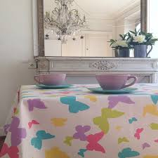 nappe ronde enduite 160 nappe de table motif papillon large choix de produits à découvrir