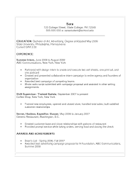 Current College Student Resume Sample by College Student Resume For Summer Job