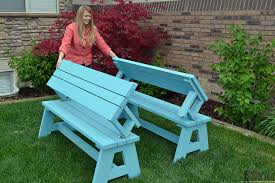 Plans To Build A Picnic Table Bench by Convertible Picnic Table And Bench Buildsomething Com