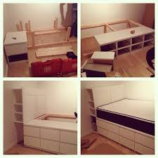 Make A Platform Bed With Storage by The 25 Best Dresser Bed Ideas On Pinterest Elevated Desk Kids