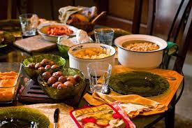 Dinner Table On The Thanksgiving Dinner Table
