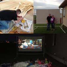 homemade outdoor 6ft x 9ft movie screen get everything at