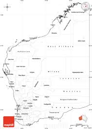 Blank Map Of Oceania by Blank Simple Map Of Western Australia