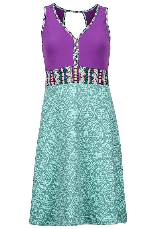 Marmot Becca Dress Clear Sky Frolic/Bright Violet L 48040-8663-L