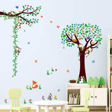 popular big stickers cartoon buy cheap big stickers cartoon lots cute monkeys big tree cartoon wall sticker vinyl art decals diy kids room decor china