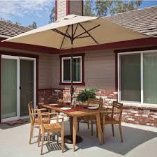 Offset Patio Umbrella by Rectangular Umbrella With Tilt Available In 3 Colors Dfohome