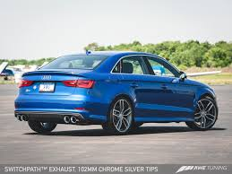 awe tuning audi s3 sedan track edition exhaust system