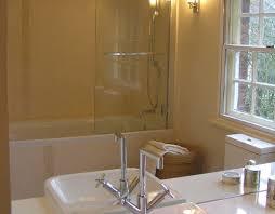 bathroom shower tub combo basin colour scheme large mirror modern