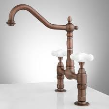 douglass bridge kitchen faucet large porcelain cross handles