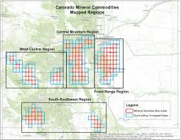 Southern Colorado Map by Mineral Resource Derivative Maps Colorado Geological Survey