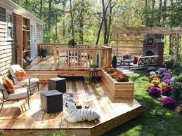 backyard deck and patio designs u2014 unique hardscape design make