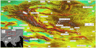 China Topographic Map by Published Maps U2013 Mongolia China Dickson Cunningham Eastern