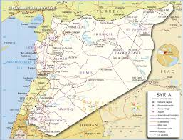 Jordan Country Map Political Map Of Syria Nations Online Project