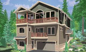 Home Design For Views Hillside Home Plans With Basement Sloping Lot House Plans
