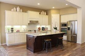 Dark Stained Kitchen Cabinets Choose Flooring That Compliments Cabinet Color Burrows Cabinets