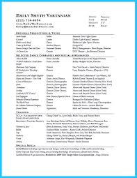 Actor Resume Commercial Sample Actor Resume Acting Resume Terminology List Special Skills