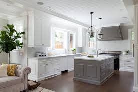 white cabinets with gray kitchen island ellajanegoeppinger com