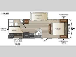 Auto Floor Plan Rates New Keystone Rv Outback Ultra Lite 255ubh Travel Trailer For Sale