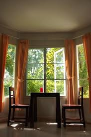 Kitchen Drapery Ideas Dining Room Bay Window Curtain Ideas Home Intuitive Ggem Design
