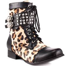high heel motorcycle boots wild child combat boot leopard abbey dawn 89 99 free shipping