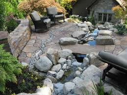 modern stone backyard patio stone patio ideas stone patio ideas