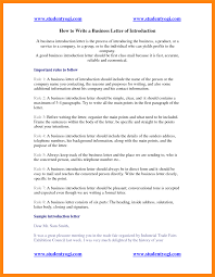 Letter Of Business Introduction by 8 How To Write A Introduction Letter Model Resumed