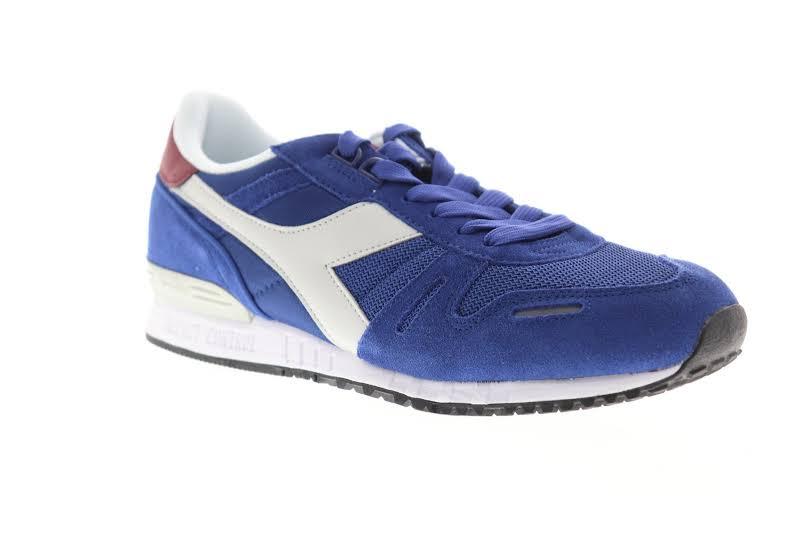 Diadora Titan II 158623-C7960 Blue Suede Casual Low Top Sneakers Shoes