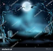 scary moon background a spooky scary halloween background scene with full moon graves