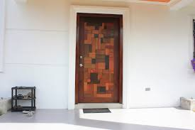 attractive contemporary front doors with single wooden entrance