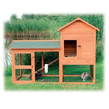 trixie natura two story rabbit hutch with large run petco
