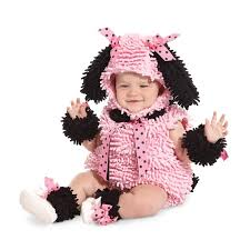 Warm Baby Halloween Costumes Pink Poodle Costume Infant Toddler Poodle Costume