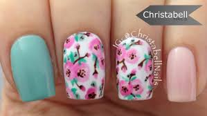 pretty floral nails with a striper brush u2013 nail art tutorial youtube