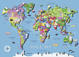 Kids World Map Amazon Com Ravensburger World Map Puzzle 60 Piece Toys U0026 Games