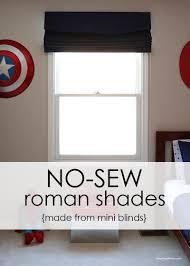 how to make inexpensive no sew roman shades i heart nap time