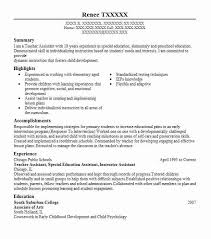 Sample Teacher Assistant Resume by Resume For A Teachers Aide