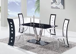 Five Piece Dining Room Sets Dining Room Modern 5 Piece Dining Set With Black Leather Chairs