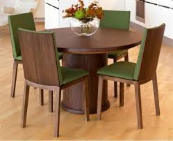dining room wooden expandable dining table set with round table