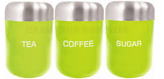 Green Canister Sets Kitchen Zodiac Kitchen Tea Coffee Sugar Storage Canister Jar Container Set