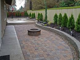 Backyard Cement Patio Ideas by New Pavers Or Concrete Patio Room Design Decor Cool In Pavers Or