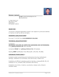 Sample Resume Format For Bcom Freshers by Resume Format Word Haadyaooverbayresort Com