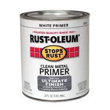 rust oleum stops rust 1 qt white flat clean metal primer case of