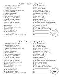 Best Persuasive Essay Topics Id Brefash FAMU Online